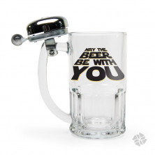 CANECA CAMPAINHA 340ML MAY THE BEER BE WITH YOU